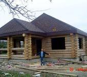 Одноэтажный дом из сруба